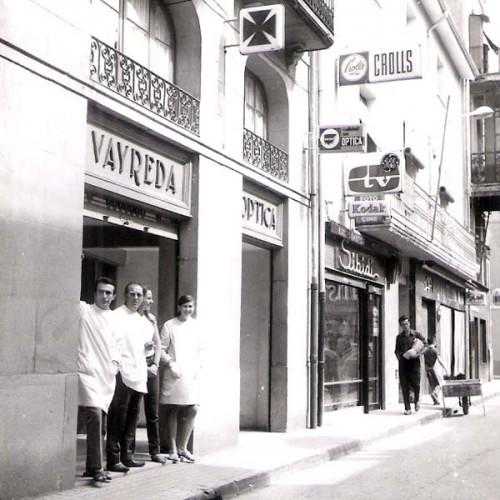 Farmacia i Òptica Vayreda als anys 50