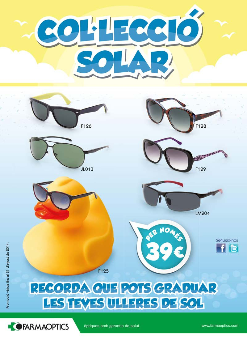 Ulleres solars Farmaoptics 2014